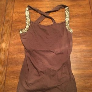 Brown with gold top